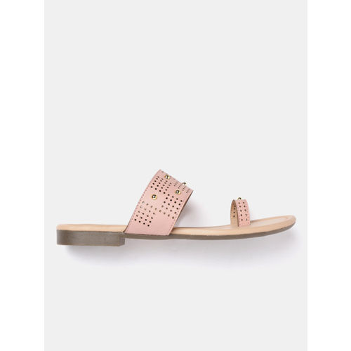 Lavie Women Pink One Toe Flats with Laser Cuts