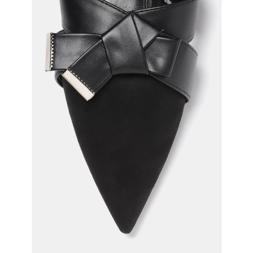 DressBerry Women Black Solid Mules