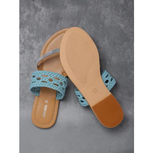 Anouk Women Blue Braided One Toe Flats