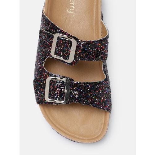 DressBerry Women Multicoloured Solid Open Toe Flats