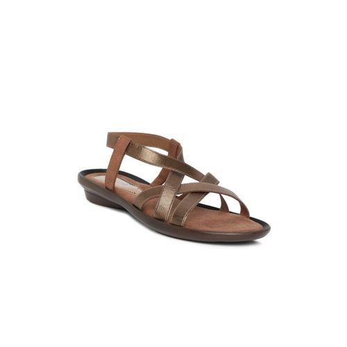 Catwalk Women Copper-Toned Solid Open Toe Flats