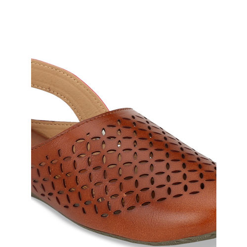 Zachho Women Tan Brown Solid Mules