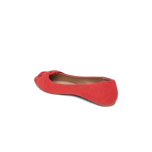 People Women Red Solid Ballerinas
