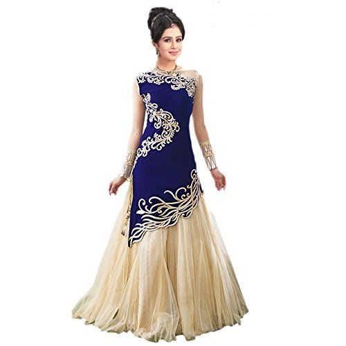 V-KARAN V KARAN woman's Georgette Embroidered Semi-stitched Gown