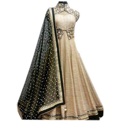 Florence Women's Beige Bangalore silk Gown