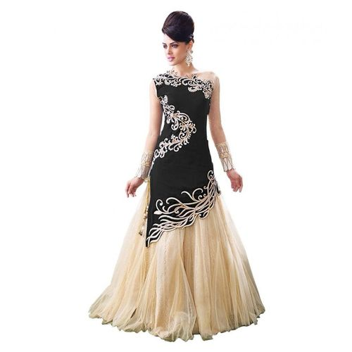 Omstar Fashion New Designer Black And Beige Colour Velvet Material Wedding, Party,And Fastival Wear Lehengha choli For Women And Girls