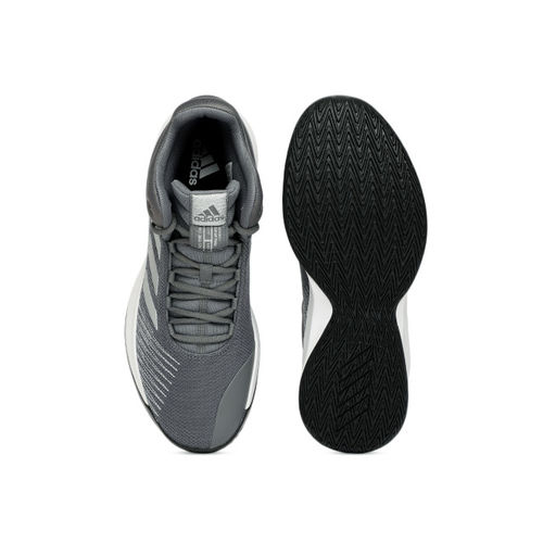 ADIDAS Grey Solid Pro Spark Basketball Shoes