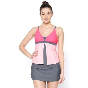 VOXATI Color Block Tankini Skort Bottom Swimsuit - voxati63