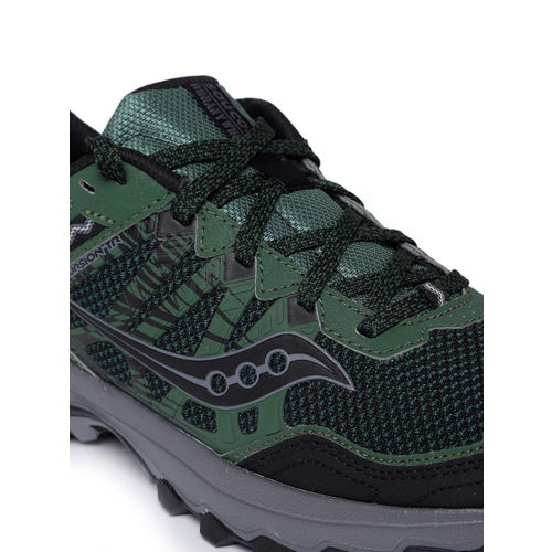 saucony Men Green & Black EXCURSION Sneakers