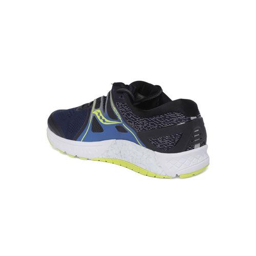 saucony Men Navy Blue & Black Omni ISO Sneakers