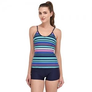 VOXATI Rainbow Stripes Tankini Swimwear - bik133