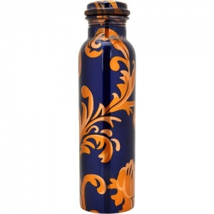 Ziyana Printed Pure Copper Water Bottle 1000 Bottle(Pack of 1, Multicolor)