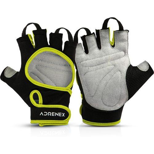Adrenex by Flipkart Foam Padded, Open Cut Gym & Fitness Gloves with Wrist Support(Black/Green)