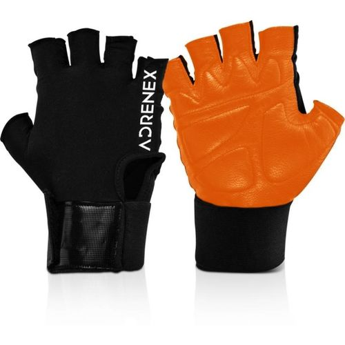 Adrenex by Flipkart Foam Padded, Leather Gym & Fitness Gloves with Wrist Support(Orange)