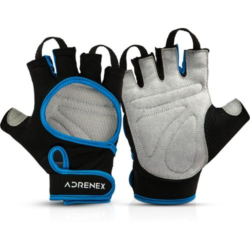 Adrenex by Flipkart Foam Padded, Open Cut Gym & Fitness Gloves with Wrist Support(Black/Blue)