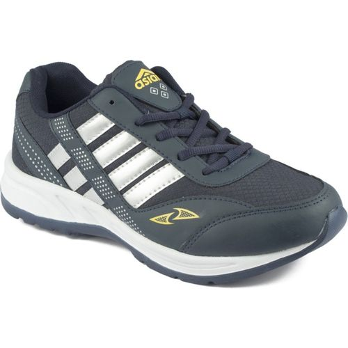 Asian training shoes,gym shoes,walking shoes,sports shoes,eva shoes Running Shoes For Men(Navy, Yellow)