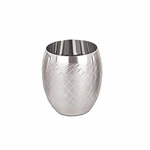 Milton Aqua 930ml Stainless Steel Fridge Water Bottle Set of 8 (4 Silver & 4 Pink) with Hazel Glass