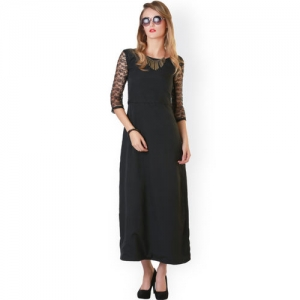 6cc9216025cd Buy CODE by lifestyle Halter-Neck Velvet Maxi Dress online | Looksgud.in