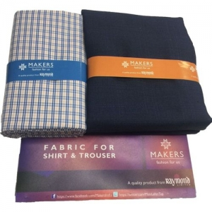 356ee4b80 Buy Raymond Royal Blue Broad Check Trouser Fabric With Exquisite ...