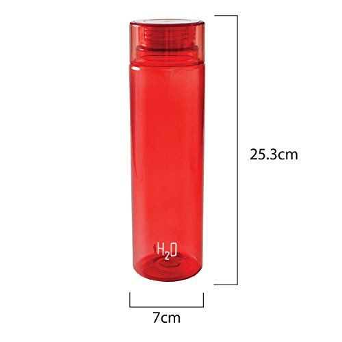 Cello H2O Unbreakable Premium Edition Bottle, 1 Litre, Set of 4, Red