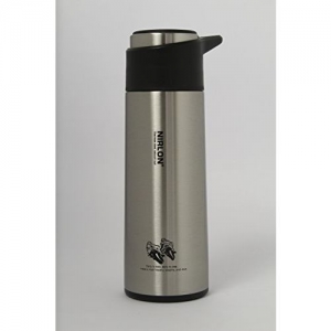 Nirlon Stainless Steel Water Bottle Set, 2-Pieces, Silver/Cream (55009Slvr55007Cream)