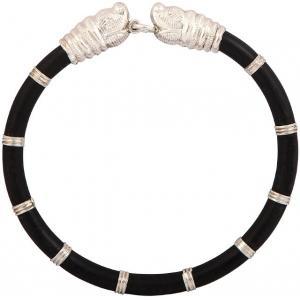 Siri Creations Silver Mens Kada(With Elephants Head) Silver Bracelet