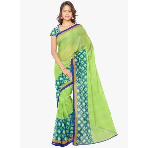 Anand Sarees Faux Georgette Multi Colored Printed Saree With Blouse Piece (11152)