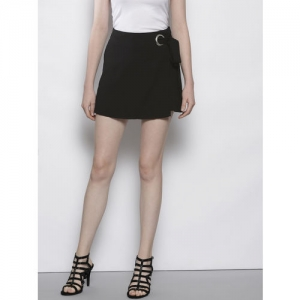 DOROTHY PERKINS Women Black Solid Mini Skorts