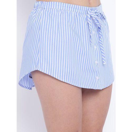 FOREVER 21 Blue & White Striped Skorts