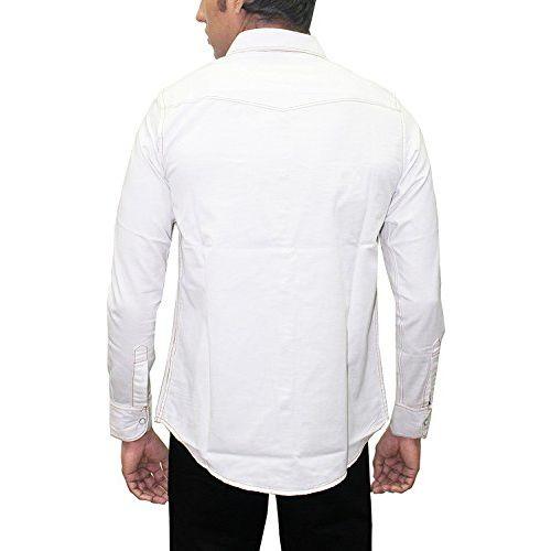Southbay AA Men's White Denim Cotton Party Western Casual Shirt Cum Jacket