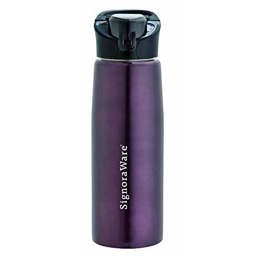Signoraware Deva Stainless Steel Water Bottle, 800 ml, Red