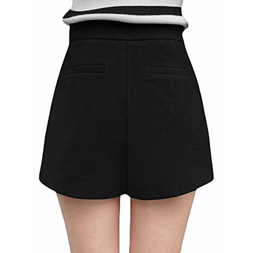 Electrodose Women Zip Fly Side A Line Layered Worsted Skorts