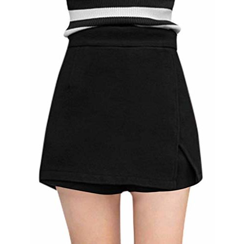 SLB Works Women Zip Fly Side A Line Layered Worsted Skorts
