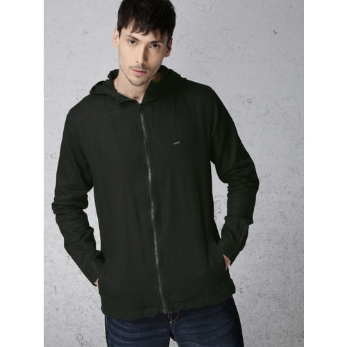 Ecko Unltd Men Black Hooded Shacket