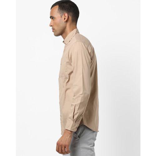AJIO Slim Fit Shirt with Patch Pocket