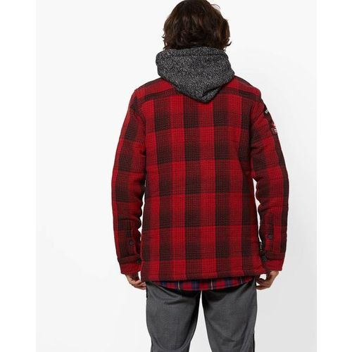SUPERDRY Everest Storm Hooded Checked Shacket