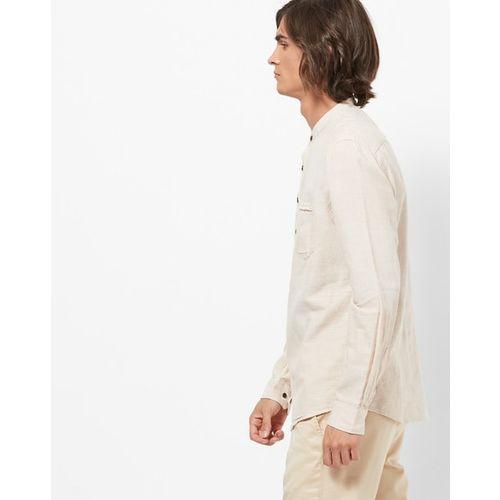 NETPLAY Slim Fit Shirt Kurta with Mandarin Collar