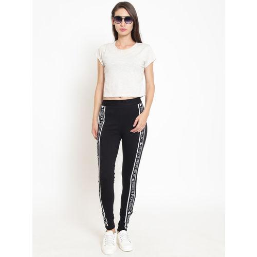 Rider Republic Women Black Slim Fit Solid Treggings