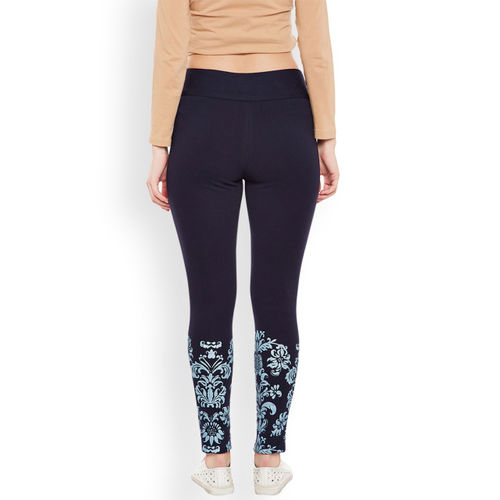 Rider Republic Navy Blue Printed Ankle-Length Treggings