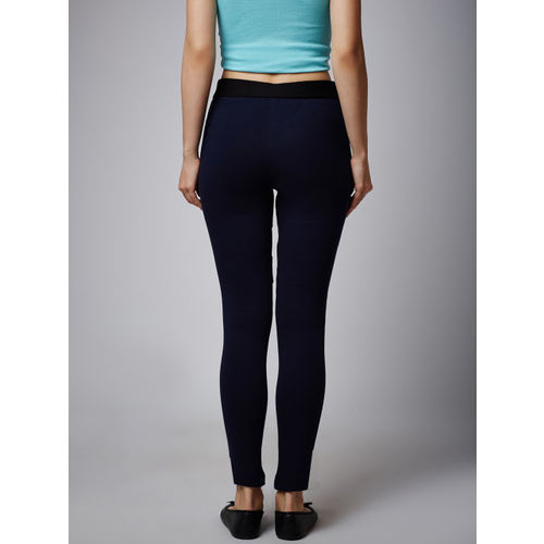 Rider Republic Navy Blue Net Treggings