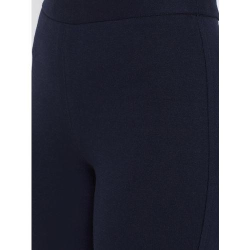 Rider Republic Women Navy Blue Solid Slim Fit Treggings