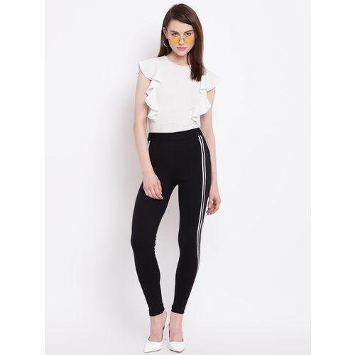 Rider Republic Women Black Solid Slim Fit Treggings