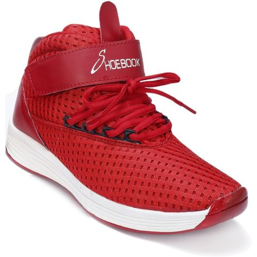 Shoebook Shoebook Sports Shoes with Velcro Running Shoes For Men(Red)