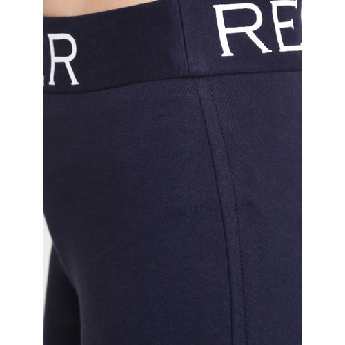 Rider Republic Women Navy Blue Solid Treggings