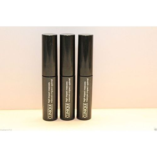 New! 3 X Clinique High Impact Mascara 01 Black 3.5ml X3=10.5ml