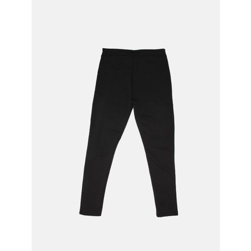 DressBerry Women Black Solid Treggings