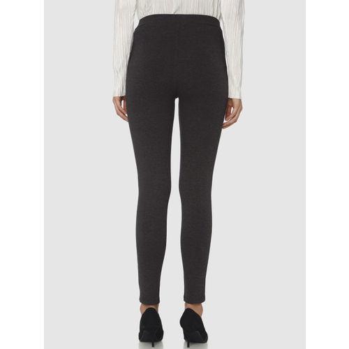Vero Moda Women Black Solid Ankle-Length Treggings