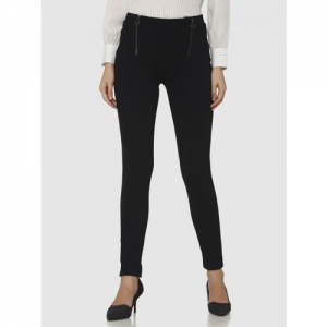 86865c011ed39a Vero Moda Women Black Skinny Fit Solid Ankle Length Treggings