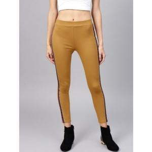 STREET 9 Women Mustard Yellow Solid Skinny Fit Treggings