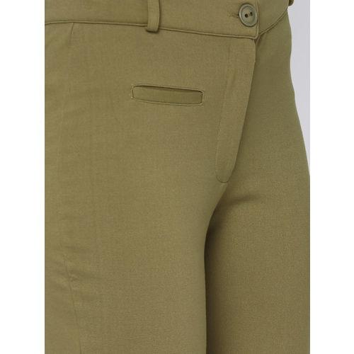 AND Women Khaki Original Fit Solid Treggings